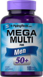 Mega Multiple for Men 50 Plus, 100 Coated Caplets
