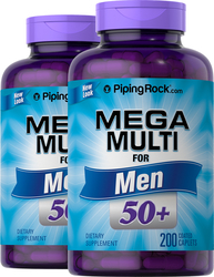 Mega Multiple for Men 50 Plus 2 Bottles x 200 Coated Caplets