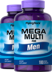 Mega Multi for Men 180 Caplets x 2 Bottles