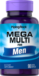 Mega Multiple Vitamin for Men 90 Coated Caplets