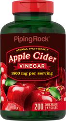 Apple Cider Vinegar, 1800 mg (per serving), 200 Capsules