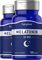 Melatonin 10 mg, 120 Tablets x 2 Bottles