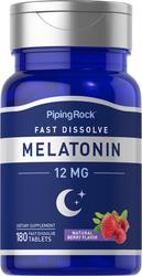 Melatonin 12 mg Fast Dissolve 180 Tablets