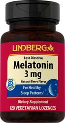 Melatonin Fast Dissolve (Natural Berry), 3 mg, 120 Lozenges