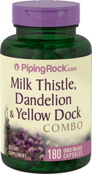 Milk Thistle Dandelion & Yellow Dock 180 Capsules
