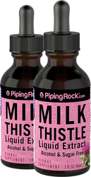 Milk Thistle Seed Liquid Extract 2 Dropper Bottles x 2 fl oz (59 mL)