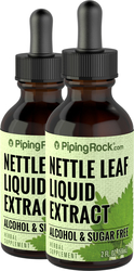 Nettle Leaf Liquid Extract Alcohol Free 2 fl oz (59 mL) x 2 Bottles