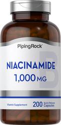 Niacinamide B-3, 1000 mg, 200 Quick Release Capsules