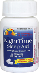 NightTime Sleep Aid Diphenhydramine HCl 25 mg 72 Tablets