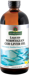 Norwegian Cod Liver Oil Liquid (Lemon Lime), 8 fl oz