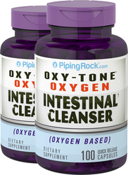 Oxy-Tone Oxygen Intestinal Cleanser, 100 Capsules x 2 Bottles