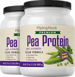 Pea Protein Powder (Non-GMO), 24 oz x 2 Bottles