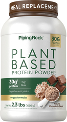 Plant Based Protein Powder Natural Chocolate Flavor, 2.3 lbs Bottle