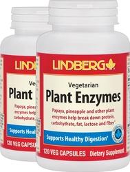 Plant Enzymes, 120 Veg Capsules x 2 Bottles
