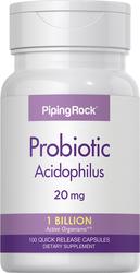 Probiotic Acidophilus 1 Billion Active Organisms, 100 Capsules