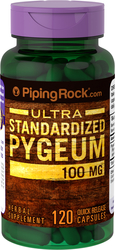 Pygeum Africanum Standardized 100mg 120 Supplement Capsules
