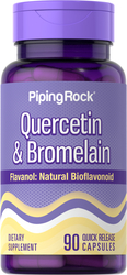 Quercetin Plus Bromelain 400 mg (per serving), 90 Capsules