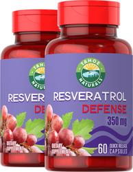 Resveratrol 350mg 2 Bottles x 60 Capsules