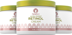 Retinol Cream Vitamin A Cream 3 Jars x 4 oz  400,000 IU per Jar