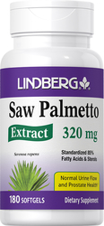 Saw Palmetto Standardized Extract, 320 mg, 180 Softgels