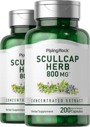 Scullcap Herb, 800 mg, 2 x 200 Capsules