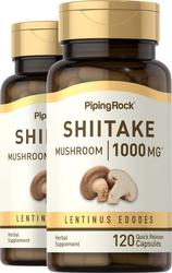 Shiitake Mushroom, 1000 mg, 120 Caps x 2 Bottles