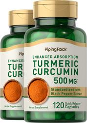 Turmeric Extract Curcumin 500 mg, 240 Capsules x 2 Bottles
