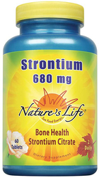 Strontium Citrate 680 mg (per serving), 60 Tablets