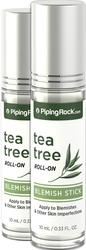 Tea Tree Oil Blemish StickRoll On, 10 mL (0.33 fl oz) x 2 Bottles
