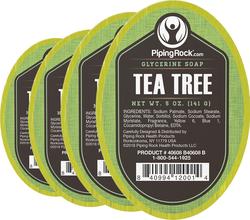 Tea Tree Glycerine Soap 5 oz x 6 Bars