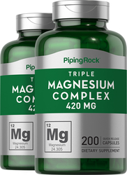 Triple Magnesium Complex 400 mg 2 Bottles x 200 Capsules