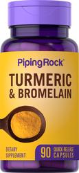 Turmeric & Bromelain, 90 Capsules