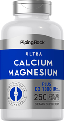 Ultra Calcium Magnesium Plus D3 1000Cal,500Mag,1000 IU 250 Coated Caplets