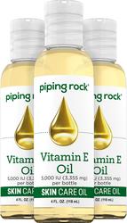 Vitamin E Pure Natural Skin Oil 5000 IU 4 fl oz (118 mL) 3 Bottles