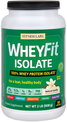 WheyFit Isolate (Natural Vanilla), 2 lb