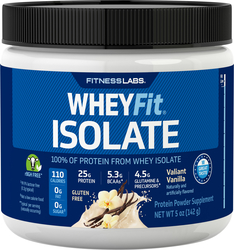 Whey Protein Isolate WheyFit (Valiant Vanilla) (Trial Size), 5 oz
