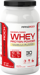 Whey Protein Powder (Natural Vanilla), 2 lbs (907 g)