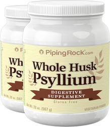 Psyllium Whole Husk 20 oz (567 g) x 2 Bottles