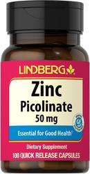 Zinc Picolinate 50 mg, 100 Caps