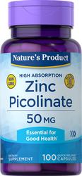 Zinc Picolinate (High Absorption Zinc) 50 mg 100 Capsules